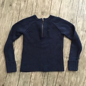 C. Wonder Ribbed Sweater Black with 1/2 Zipper LNC